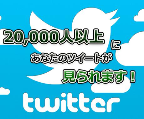 Twitter 2万インプレ保証で拡散します 常時月間700万インプレ獲得アカウントが、ツイートを宣伝! イメージ1