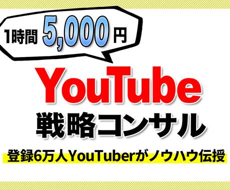 YouTubeのノウハウ伝授します 登録6万人のYouTuberと戦略を一緒に考えましょう! イメージ1