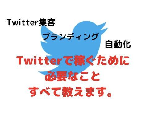 ツイッターで稼ぎたい人向けにノウハウを提供します Twitter集客/ブランディング/自動化などなど イメージ1