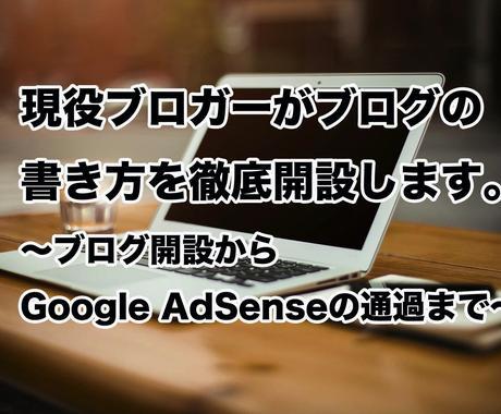 現役ブロガーがブログの書き方を徹底開設します Google AdSenseの審査を通過したい人向け。 イメージ1