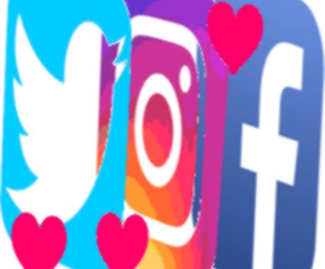 FacebookからTwitterまで、応援します ツイッター、インスタ、フェイスブックをまとめて、サポート イメージ1