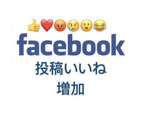 Facebook、投稿に+100いいね!拡散します 【保証あり】フェイスブックの投稿+100いいね以上増やします イメージ1