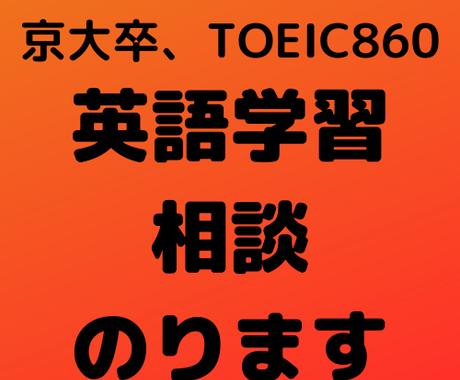 英語学習の悩みや質問にお答えします TOEIC860、京大卒の私があなたの英語の悩みを解決 イメージ1