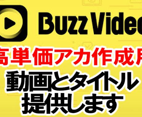 格安!バズビデオ高単価アカ作成用動画を提供します 高単価アカを作るために必要なオリジナル動画とタイトルを提供 イメージ1