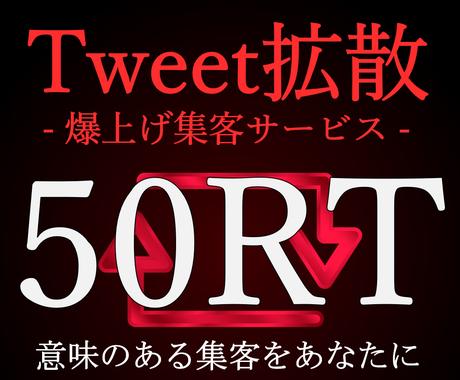 Twitter拡散!ツイートを50RT宣伝します ★Twitter爆上げ集客のプロが継続的集客メソッドを提供! イメージ1