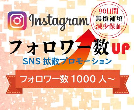 インスタのフォロワー拡散して1000人増やします 【保証付】Instagram/フォロワー/世界中拡散 イメージ1